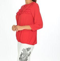 👉🏻Kırmızı Göğsü Fırfırlı Bluz 🏷20,94₺ ℹ️36, 38, 40 bedenleri mevcuttur. 🌏www.anindagiyim.com/urun/kirmizi-sifon-bluz ☎️ 0212 438 73 25 ✅ Kapıda Ödeme ✅ Ücretsiz Kargo #moda #giyim #alışveriş #kadıngiyim #stil #trend #fashion #style #kırmızı #bluz #kırmızıbluz #fırfırlıbluz #kırmızıfırfırlıbluz #clothes #yenisezon #indirim #ücretsizkargo #model Sweaters, Clothes, Fashion, Outfit, Clothing, La Mode, Pullover, Fashion Illustrations, Cloths