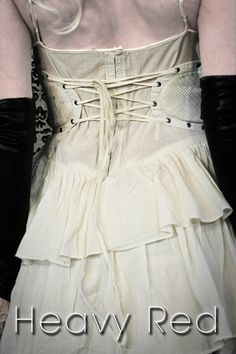 side panel corset in off-white