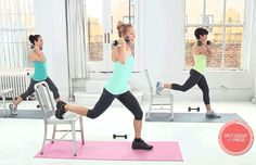 Get Fit in 10 With These Booty-Toning Chair Exercises