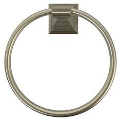 Threshold Upton Towel Ring - Brush Nickel, Silver