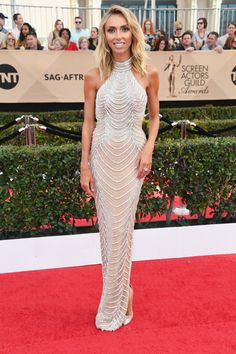 Giuliana Rancic in High-Neck Beading - Best Dressed at the 2017 SAG Awards - Photos