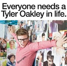Tyler Oakley and a One Direction wall - then we will be set xx