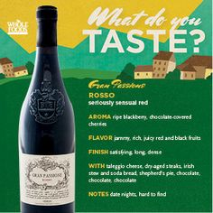 This Gran Passione is wonderful... Try a sip for yourself!