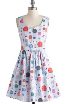 Mod Cloth dress - Hot Air Balloons!