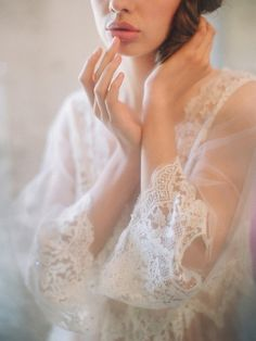 $33.44 Cushions miles off magic Wonderland fairy transparent chiffon lace embroidery long section of transparent nightgown clothing models long chiffon shirt-ZZKKO