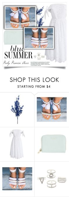 """""""Pinky Promise Accs"""" by amra-mak ❤ liked on Polyvore featuring Chicwish, Ted Baker, Charlotte Russe and PinkyPromiseAccs"""