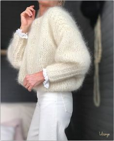 Have a nice week ♡ - Pulli Stricken Looks Style, Style Me, Gros Pull Mohair, Estilo Cool, Mohair Sweater, Insta Look, Mode Inspiration, White Sweaters, Mode Style