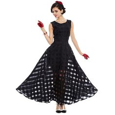 Maxi Plaid Women black Dress