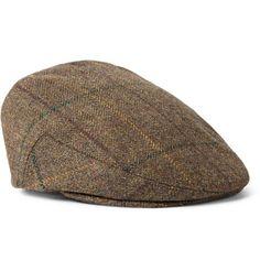 Lock  amp  Co Hatters Glen Check Wool-Tweed Flat Cap Groom Suit Tweed 2122483d1654