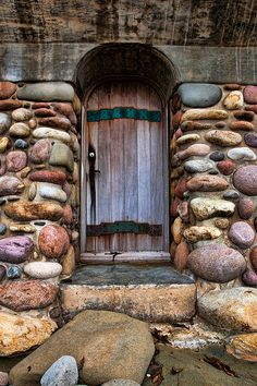 A door to a stone cottage