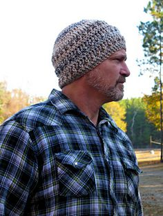 Are you looking for a textured hat for your guy? This one is sure to keep him warm while he works outside in the winter weather!