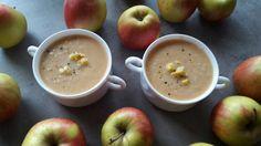 Krem z pora i pieczonych jabłek