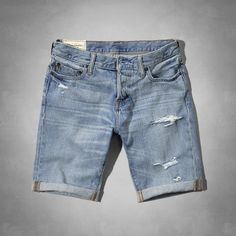 Mens A&F Classic Fit Denim Shorts | Mens Shorts | eu.Abercrombie.com