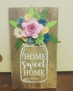 home decor - Ancilla DIY Wood Projects For Beginners, Diy Wood Projects, Spring Projects, Spring Crafts, Felt Crafts, Paper Crafts, Diy Crafts, Craft Night, Cricut Creations