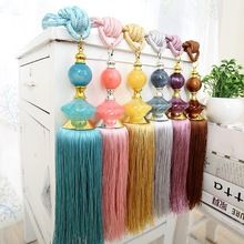 2015 Real Borlas Decorativas Franjas cortina nuevo chino exquisito Jade de loto cortinas colgantes bola vendaje atado atar Lob(China (Mainland)) Tassel Necklace, Macrame, Tassels, Lob, Crochet, Creative, Fabric, Jewelry, Curtain Tie Backs