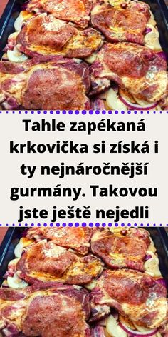 Czech Recipes, Food Humor, Food 52, A Table, Chicken Recipes, Pork, Food And Drink, Easy Meals, Cooking Recipes