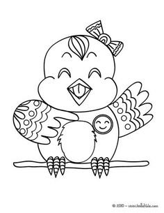 IfCanary Coloring Page Nice Bird Sheet More Original Content On Hellokids