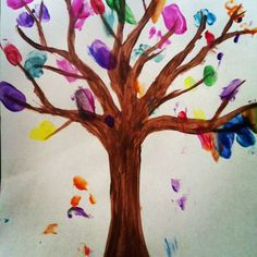 Arts and Crafts: Finger Print Tree