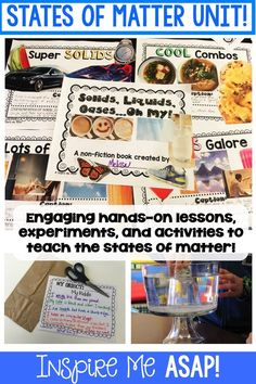 Are you looking for engaging activities, experiments, and lessons to teach your kiddos about the different states of matter? This resource has a little bit of everything you will need to make this topic fun and relatable! Science Fair Projects, Science Experiments Kids, Science Activities, Elementary Science, Science Classroom, Classroom Activities, Health And Fitness Expo, States Of Matter, Science Notebooks