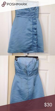 PRISCILLA OF BOSTON SIZE 4 LIGHT BLUE DRESS SIZE 4 Dresses Strapless