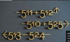 Kamernummers met een goud look. www.reclamelettersonline.nl