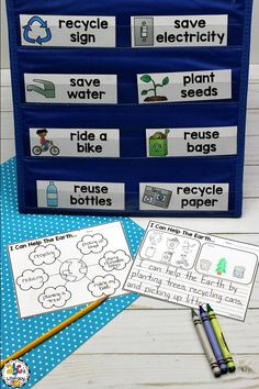Celebrating Earth Day this year by learning how to help the Earth! Your Preschoolers, Kindergartners, 1st Graders and 2nd Graders will use the word web and word wall words to pre-write and then the writing prompts to write all about what they can do to help the Earth. This Earth Day writing prompt is included with a printable book, crown, craft, and more. Click on the picture to learn more about these Earth Day Activities! #earthdayactivities #earthdaywritingprompt #earthdaywordwallwords
