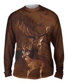 Feeling the #nature #vibe today.  #longsleeve #deer  Painted Deer
