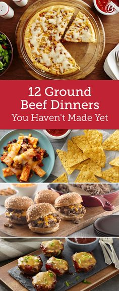 These recipes start with one of the most reliable proteins—ground beef—making them easy on the wallet and friendly for the entire family! From hearty twists on classics like Steakhouse Sloppy Joes to Beef Dishes, Food Dishes, Main Dishes, Dinner With Ground Beef, Meals To Make With Ground Beef, Ground Beef Recipes, Hamburger Recipes, Meat Recipes, Free Recipes