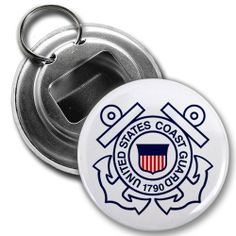 COAST GUARD Military Armed Forces Heroes 2.25 inch Button Style Bottle Opener with Key Ring by Creative Clam. $4.25. This 2.25 inch Button Style Bottle Opener with Key Ring makes a great gift for yourself or someone you know. ~ This artwork can also be featured on some or all of the following products offered by Creative Clam ~ Coffee Mugs | License Plates | Patches | Ornaments | Earrings | Key Chains | Fridge Magnets | Buttons | Pocket Mirrors | Dog Tags | Shoe Tags | Pendan...