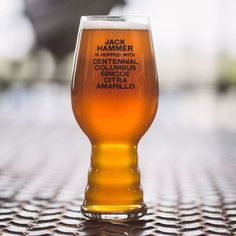 Jack Hammer IPA Glass