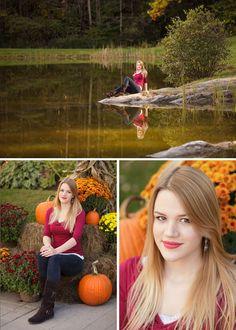 @hannahksmall  #senior #highschoolsenior #seniorsession #grad #teenager #teen #ClaremontNH #NewHampshire #nhphotographer #fall #autumn #NewHampshirephotographer #seniorphotographer #ClaremontNH #KristinSmallPhotography #pumpkin #pond #reflection #Vermont