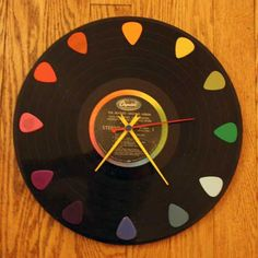 Old Vinyl Record Clock …