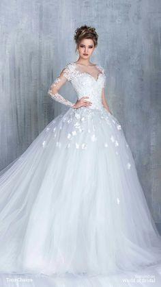 Tony Chaaya Haute Couture 2016 Wedding Dresses - World of Bridal - Wedding Dresses Inspiration - 2016 Wedding Dresses, Wedding Dress Styles, Bridal Dresses, Wedding Gowns, Wedding Colors, Couture Dresses, Wedding Ideas, Tulle Wedding, Formal Wedding