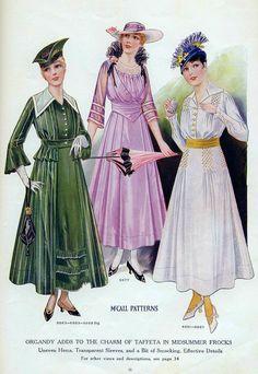 Fashion Plate - McCall's Magazine, August 1915
