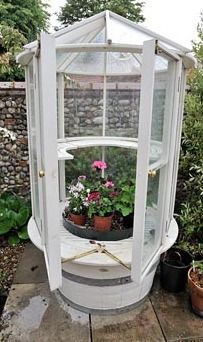 Round small english greenhouse