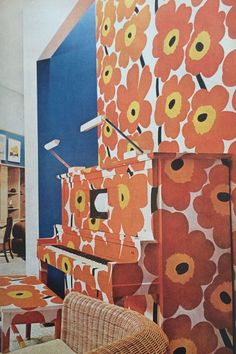 Check Out This Groovy 70s House Beautiful  Pad Marimekko Piano