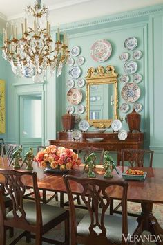 Mirror and Plate Wall - French Style