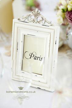 vintage frame table name www.bohemiandreams.co.uk