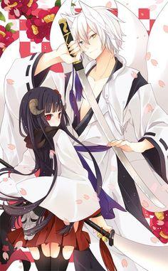Ririchiyo Shirakiin & Sōshi Miketsukami (Inu x Boku SS)