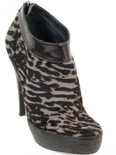 Donna Karan Collection Boots - Animal Print Pony Hair Booties
