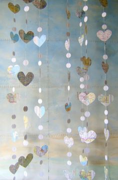paper garland - travel theme wedding