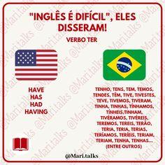 English Tips, English Study, English Lessons, Portuguese Lessons, Learn Portuguese, English Vocabulary Words, Learn English Words, Portuguese Language, English Language