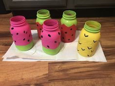 Fruit Themed Mason Jars - Twotti Frutti Birthday Party #birthdaydecor #twottifrutti #fruitdecor #birthday #masonjars #masonjarcrafts Watermelon Birthday Parties, Fruit Birthday, Hawaiian Birthday, Fruit Party, Party Cups, 2nd Birthday Party For Girl, 50th Birthday Party Decorations, Birthday Ideas, Wife Birthday