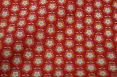 Stenzo15 7078-11 Cotton poplin bloemetjes rood