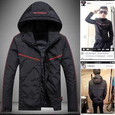 The new spring 2017 Men hooded jacket Fashion movement thin jacket