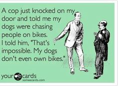 hahhahahhah!!! Wish I had thought of this when my dogs used to sneak out of the fence to terrorize the neighborhood!