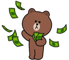 Cute Cartoon Images, Cute Love Cartoons, Cartoon Gifs, Cute Love Gif, Cute Love Pictures, Money Animation, The Grinch Movie, Bear Gif, Cony Brown