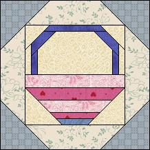 Block of the Day for July 5, 2014 - Framed Striped Basket