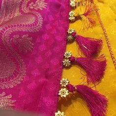 Saree Jacket Designs, Saree Tassels Designs, Saree Kuchu Designs, Best Blouse Designs, Saree Blouse Patterns, Designer Blouse Patterns, Engagement Saree, Saree Jackets, Silk Saree Kanchipuram