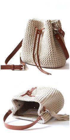 Bag Crochet, Crochet Handbags, Crochet Purses, Crochet Designs, Crochet Patterns, Crochet Bag Tutorials, Womens Purses, Casual Bags, Knitted Bags